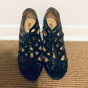 MIA Lace Up Wedges